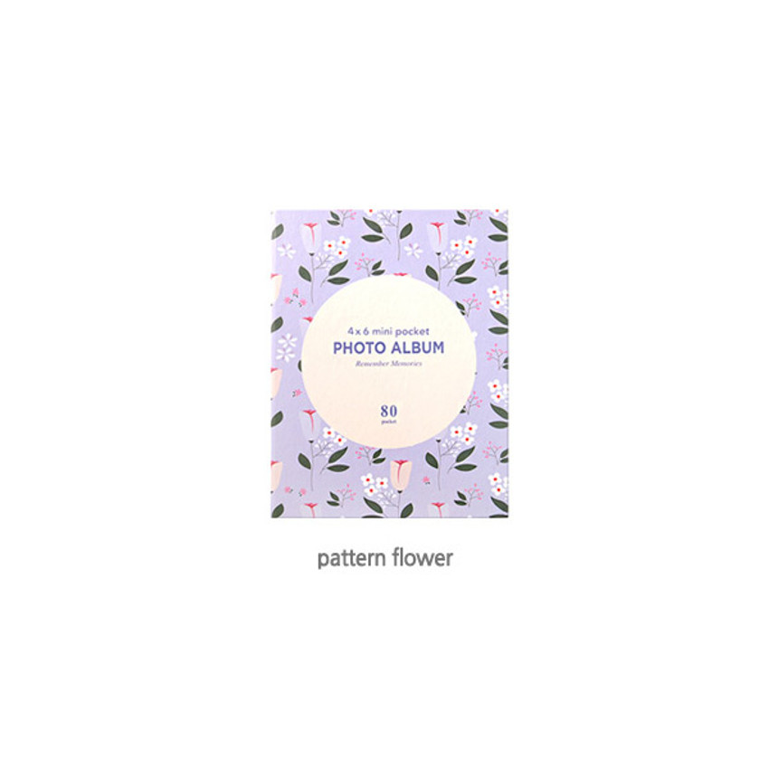 Pattern Flower - 2young Remember memories 4X6 slip in 80 pockets photo album