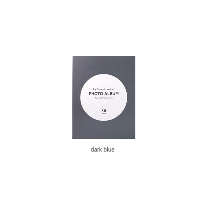 Dark Blue - 2young Remember memories 4X6 slip in 80 pockets photo album