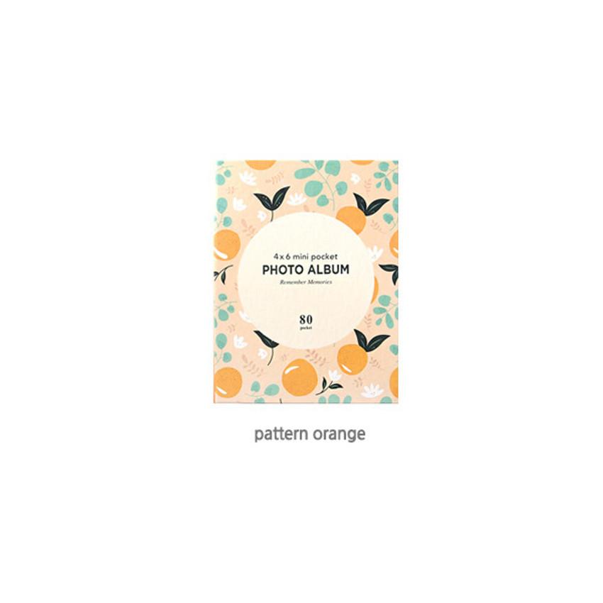 Pattern Orange - 2young Remember memories 4X6 slip in 80 pockets photo album