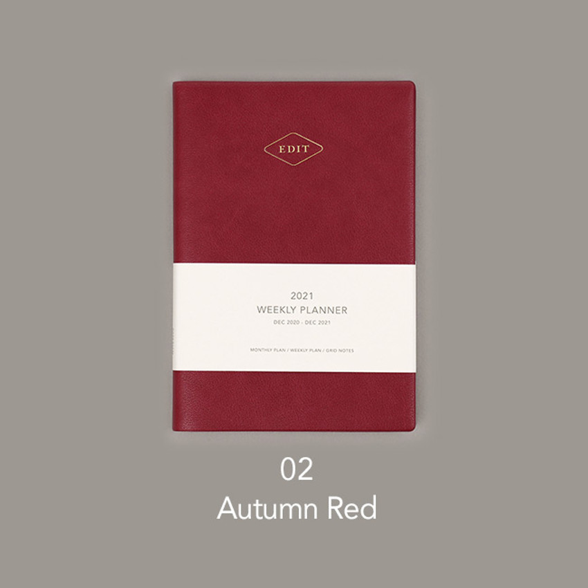 Aurora red - Paperian 2021 Edit B6 dated weekly planner