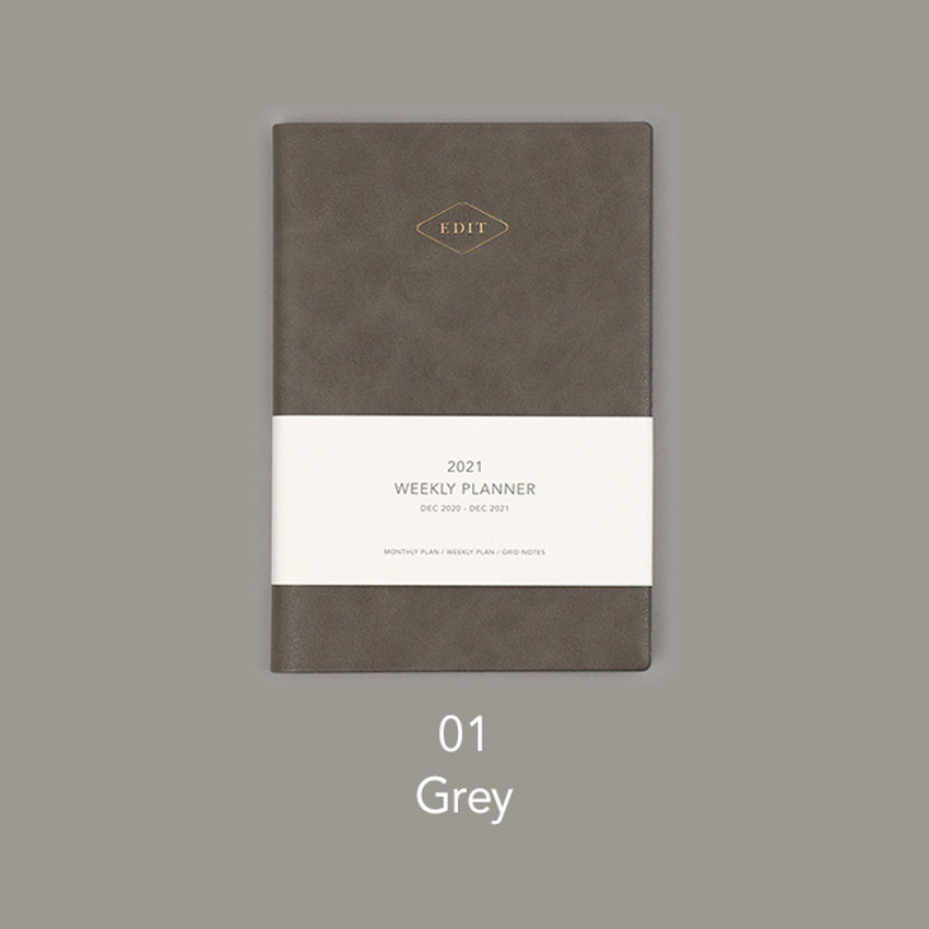 Gray - Paperian 2021 Edit B6 dated weekly planner