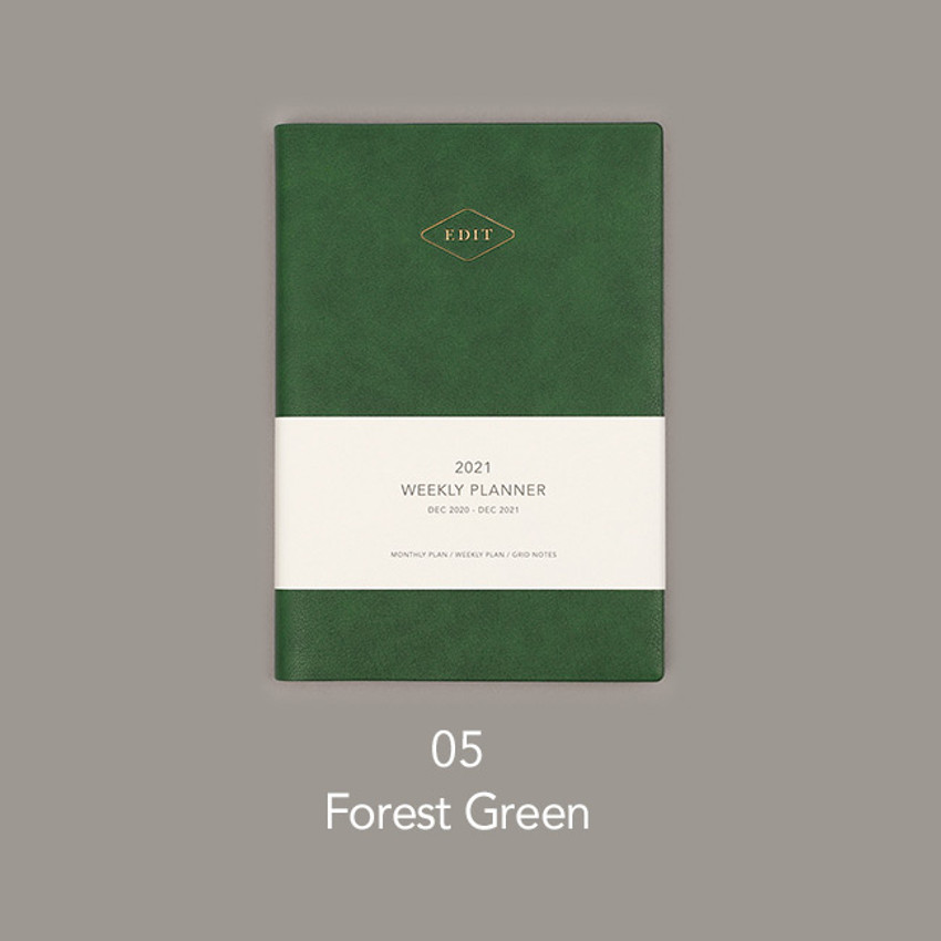 Forest green - Paperian 2021 Edit B6 dated weekly planner