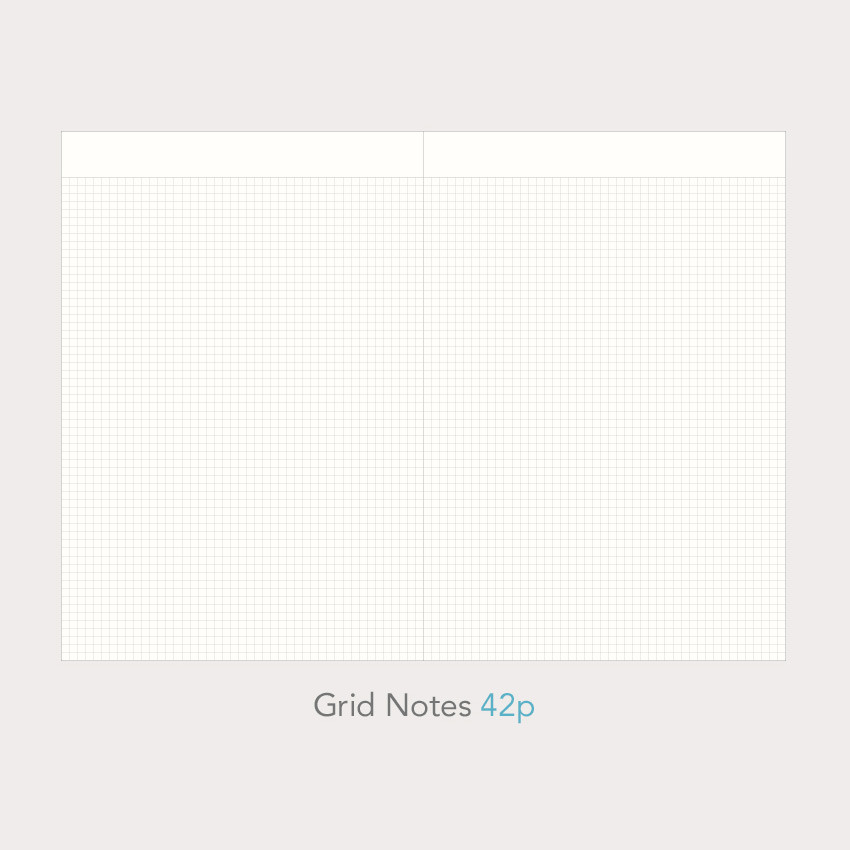 Grid notes - Paperian 2021 Edit B6 dated weekly planner