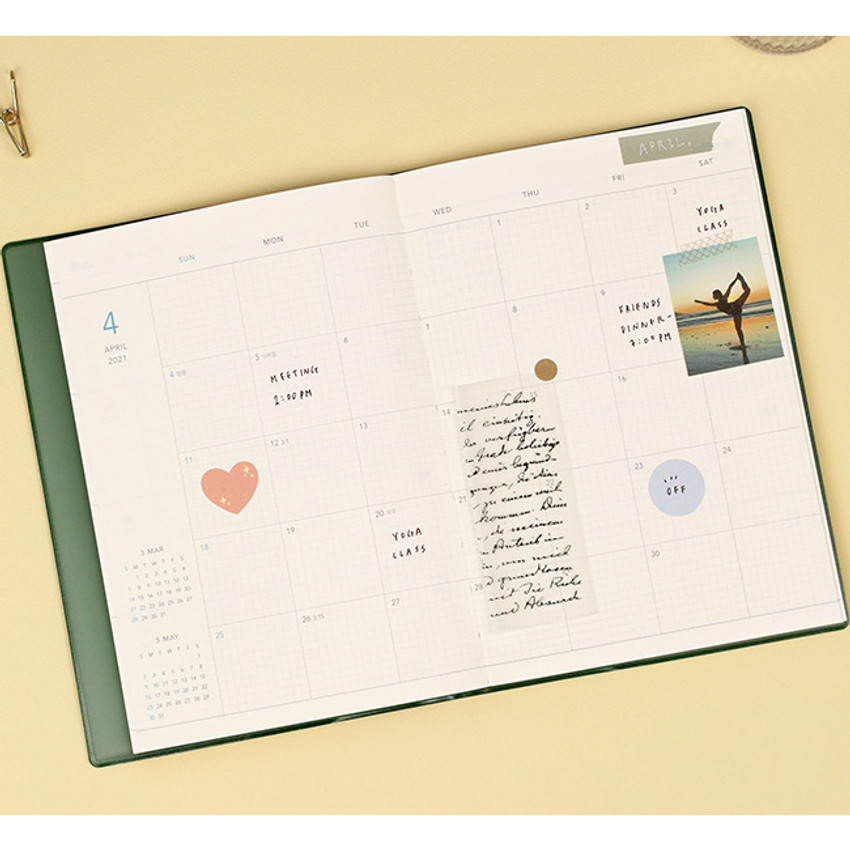 Monthly plan - Paperian 2021 Edit B6 dated weekly planner