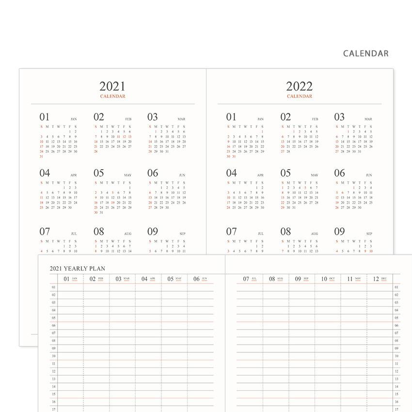 Calendar - Indigo 2021 Official small dated monthly planner scheduler