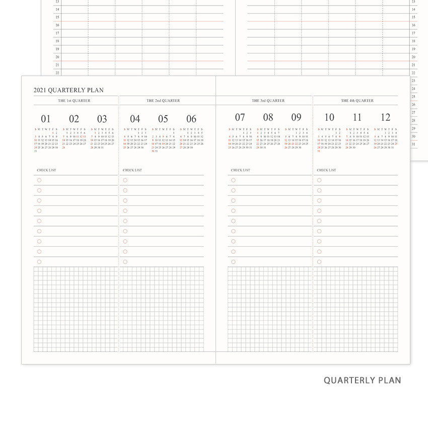 Quarterly plan - Indigo 2021 Official small dated monthly planner scheduler