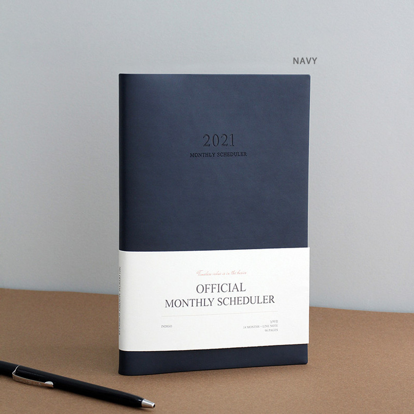Navy - Indigo 2021 Official small dated monthly planner scheduler