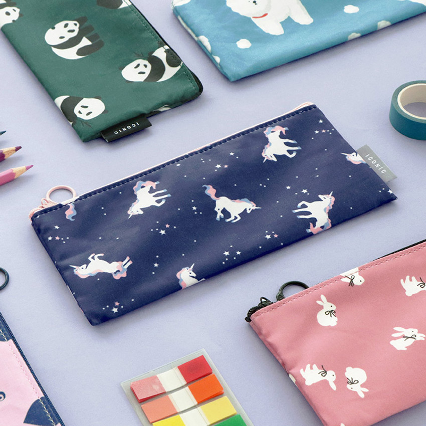 ICONIC Comely flat zipper pencil case