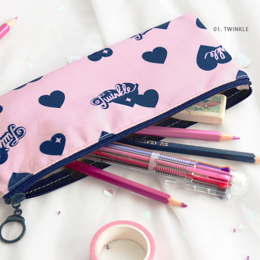 01. Twinkle - ICONIC Comely flat zipper pencil case