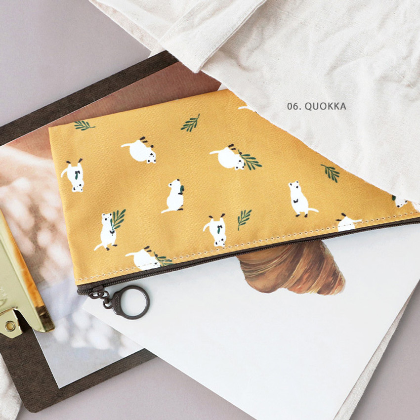 06. Quokka - ICONIC Comely flat zipper pencil case