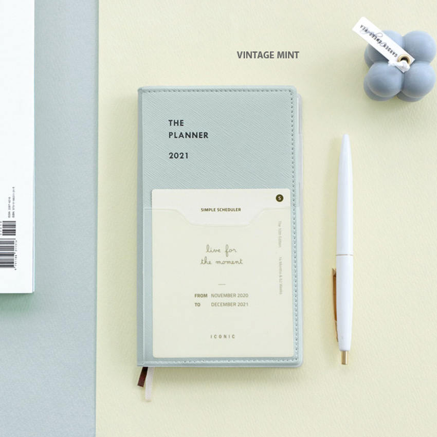 Vintage mint - Iconic 2021 Simple small dated weekly planner