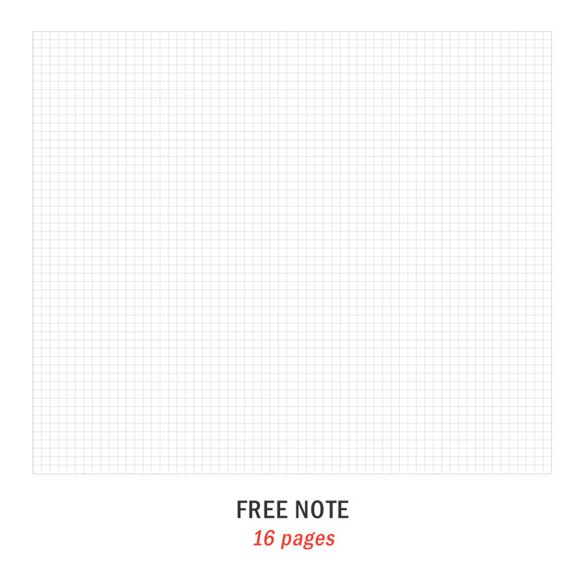 Free note - Iconic 2021 Simple small dated weekly planner