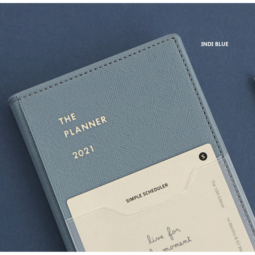 Indi blue - Iconic 2021 Simple small dated weekly planner