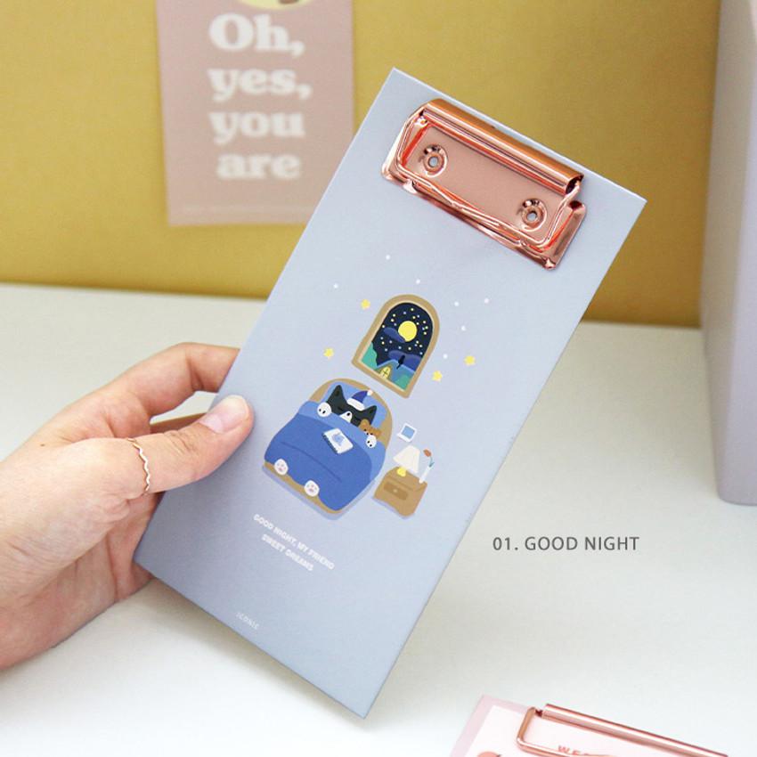 01 Good Night - ICONIC Merry clipboard memo holder