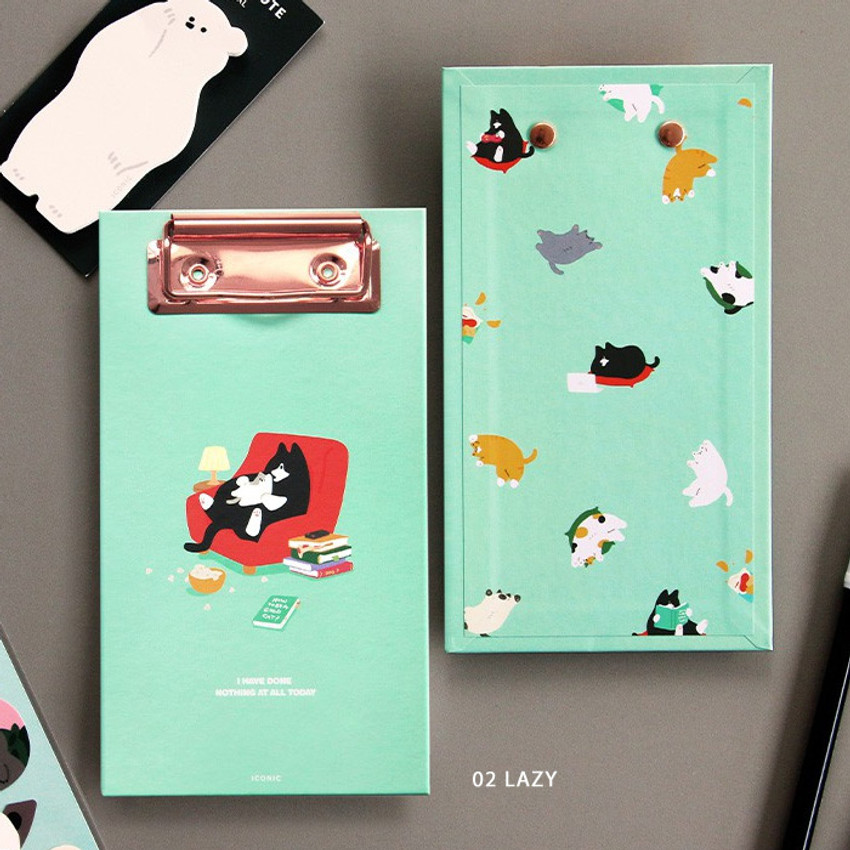 02 Lazy  - ICONIC Merry clipboard memo holder
