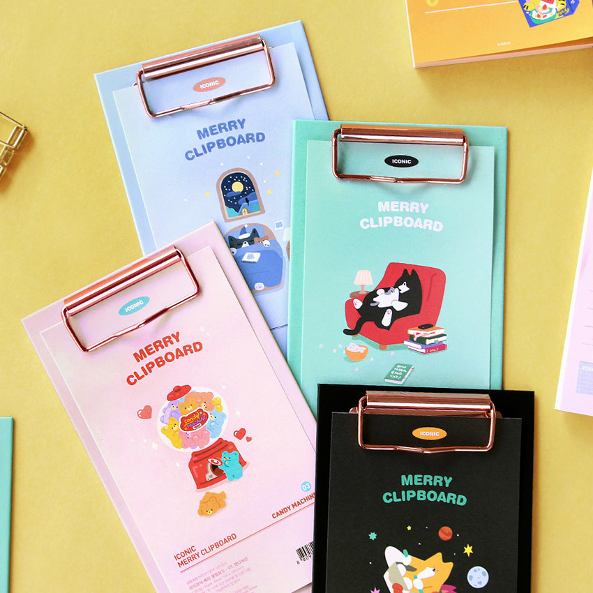 ICONIC Merry clipboard memo holder