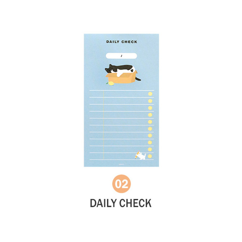 02 Daily Check - ICONIC Merry memo checklist planner notepads