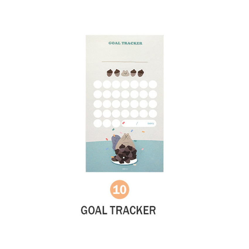 10 Goal Tracker - ICONIC Merry memo checklist planner notepads