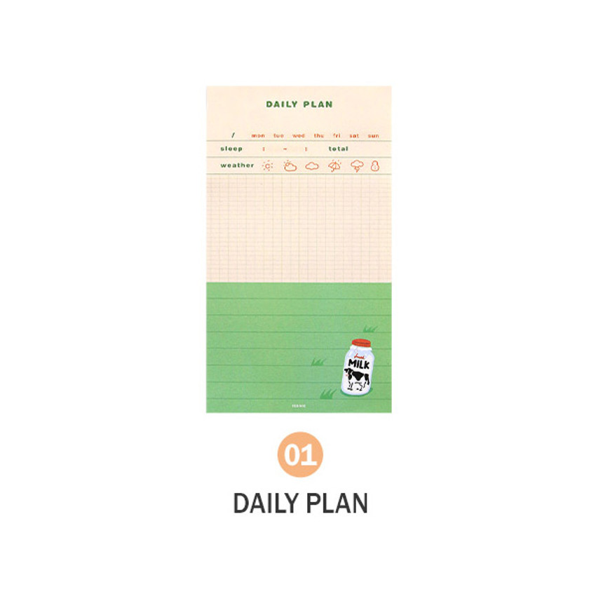 01 Daily plan - ICONIC Merry memo checklist planner notepads