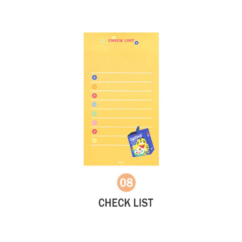 08 Checklist - ICONIC Merry memo checklist planner notepads