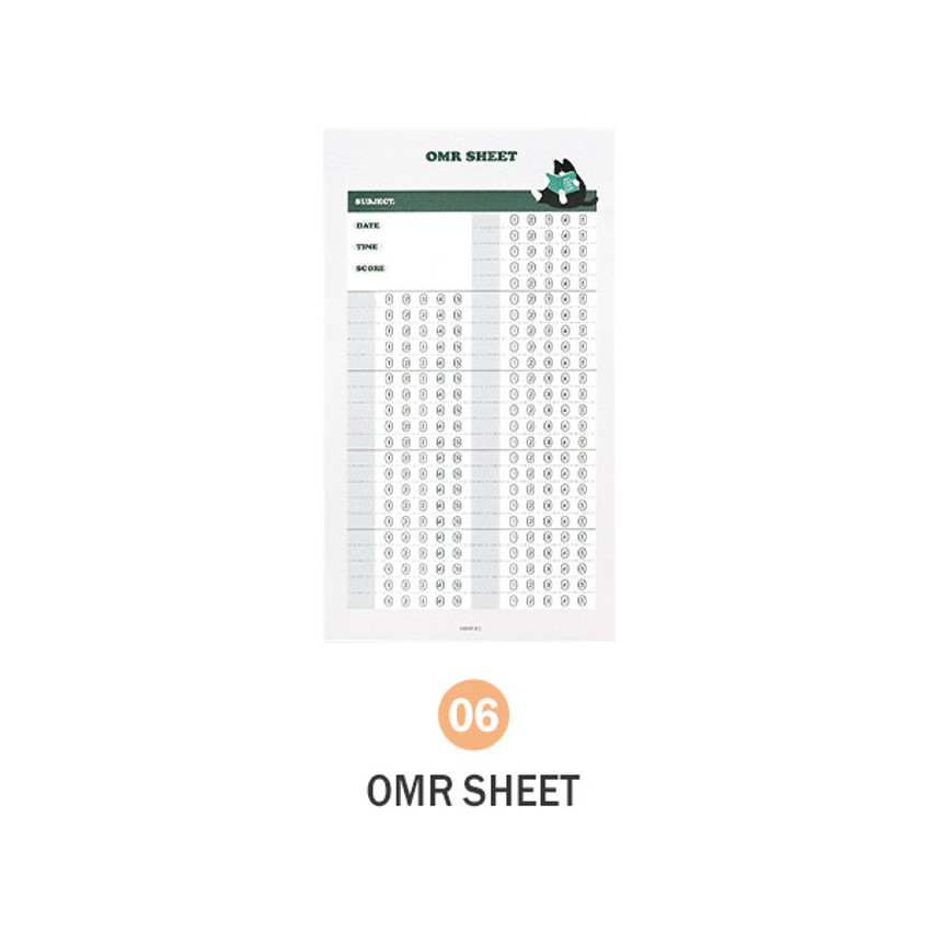 06 OMR Sheet - ICONIC Merry memo checklist planner notepads