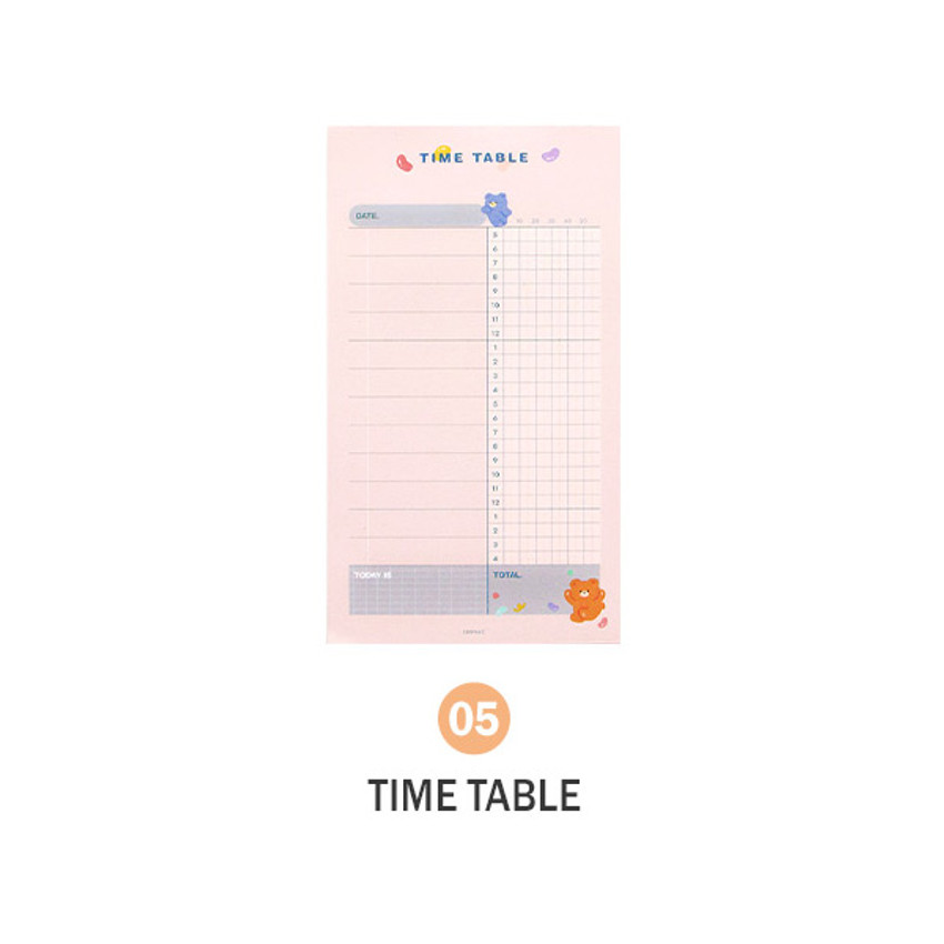 05 Time table - ICONIC Merry memo checklist planner notepads