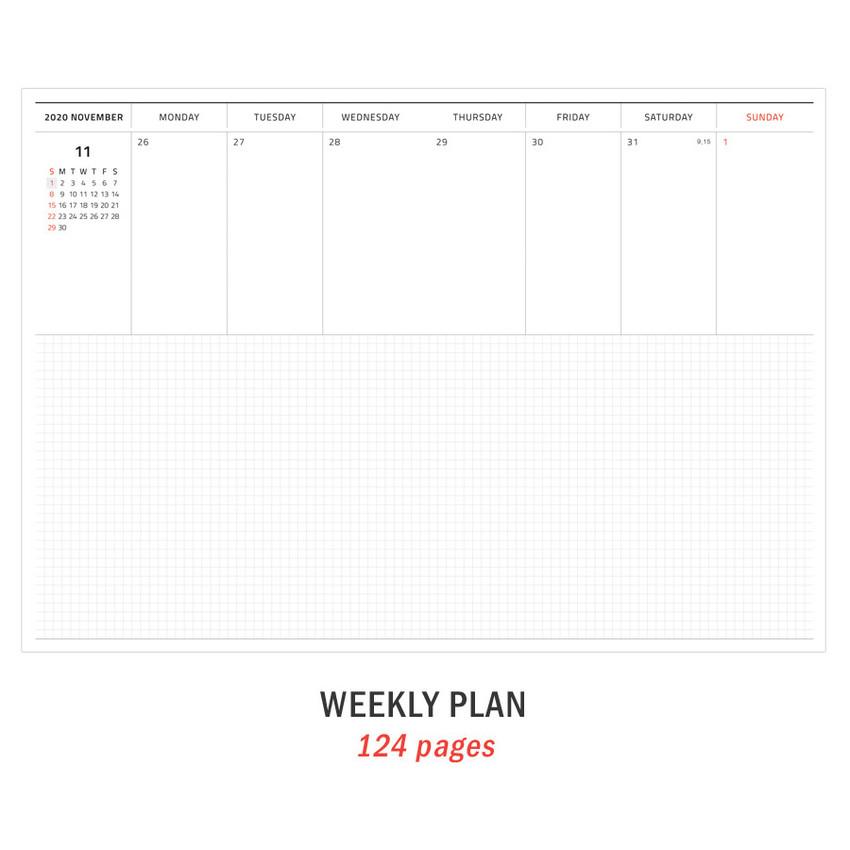 Weekly plan - Iconic 2021 Simple medium dated weekly planner
