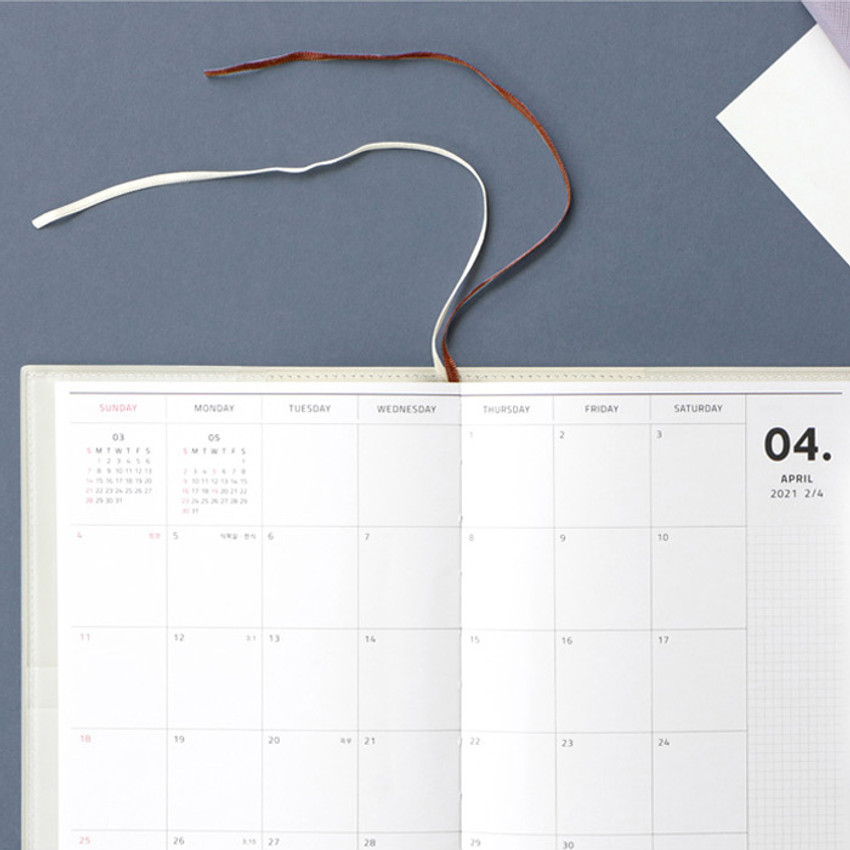 Two ribbon bookmarks - Iconic 2021 Simple medium dated weekly planner