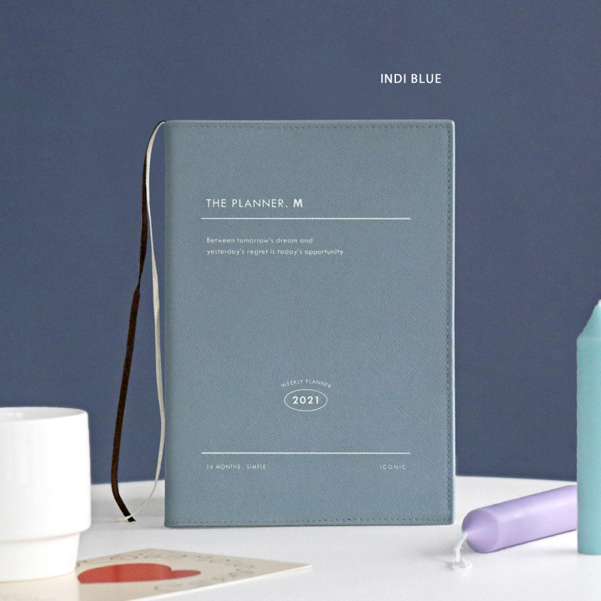 Indi blue - Iconic 2021 Simple medium dated weekly planner