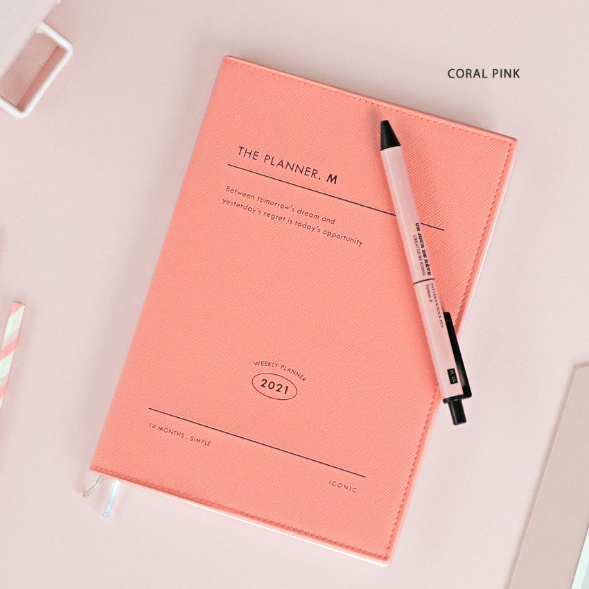 Vermilion - Iconic 2021 Simple medium dated weekly planner