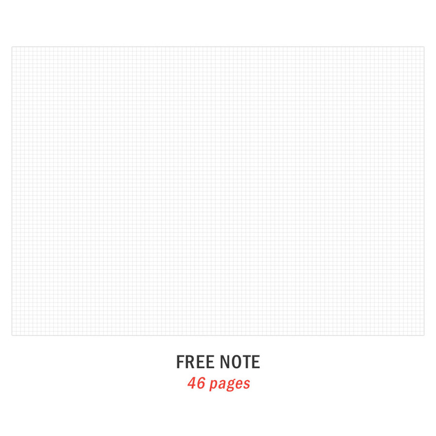 Free note - Iconic 2021 Simple large dated monthly planner