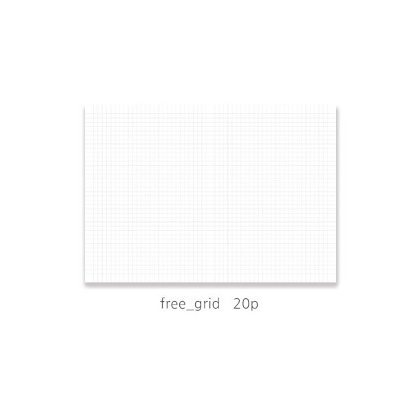 Grid note - O-check 2021 Les beaux jours dated weekly diary planner