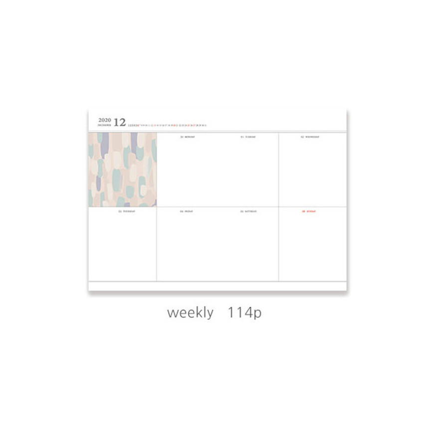 Weekly plan - O-check 2021 Les beaux jours dated weekly diary planner