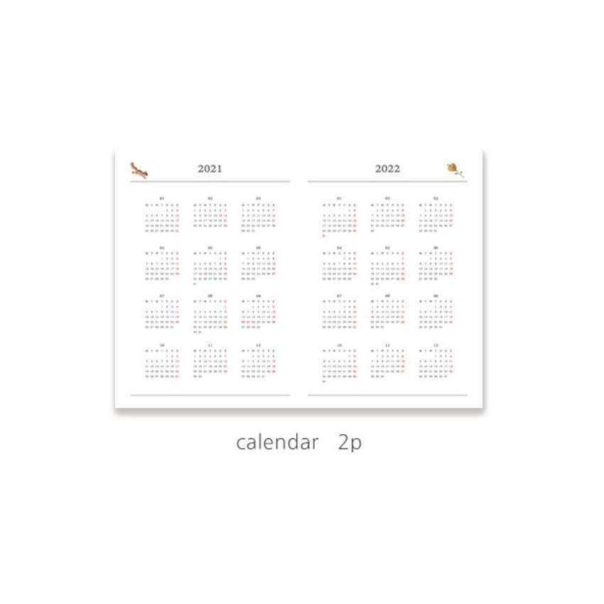 Calendar - O-check 2021 Les beaux jours dated weekly diary planner