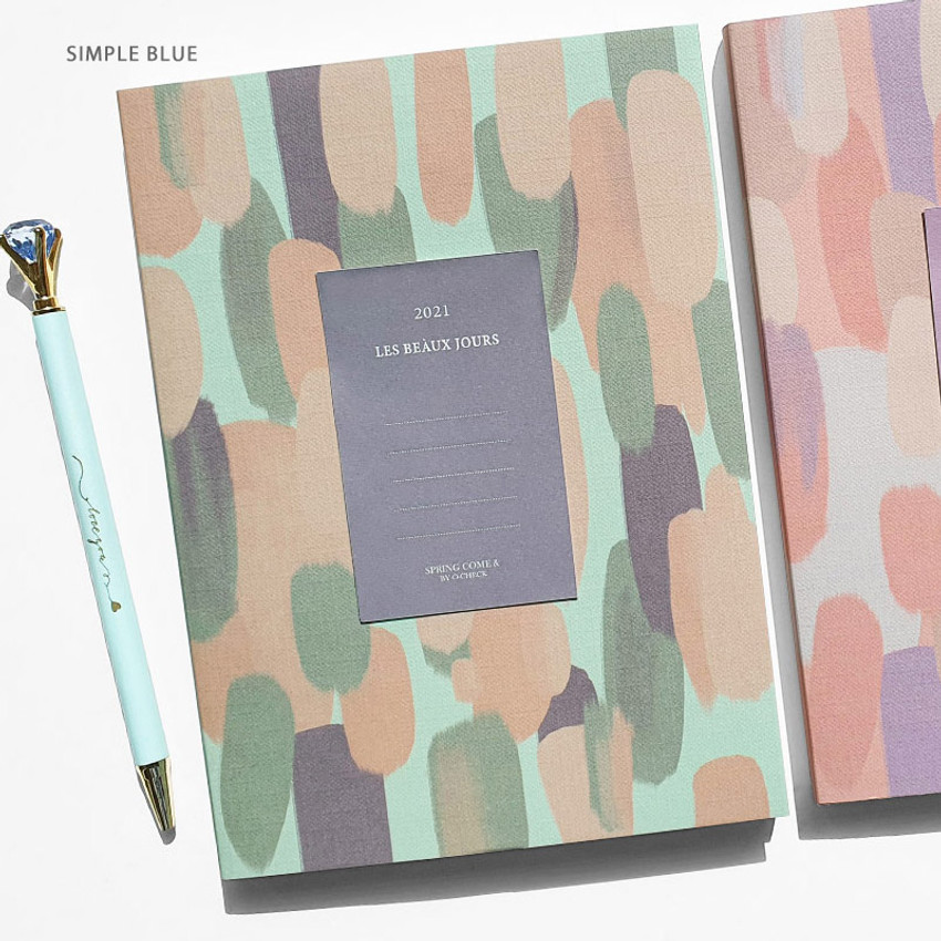 Simple Blue - O-check 2021 Les beaux jours dated weekly diary planner