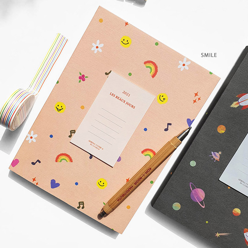 Smile - O-check 2021 Les beaux jours dated weekly diary planner