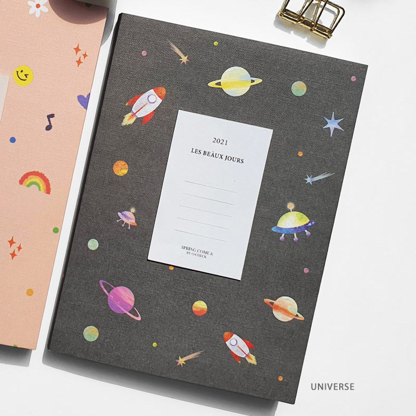 Universe - O-check 2021 Les beaux jours dated weekly diary planner