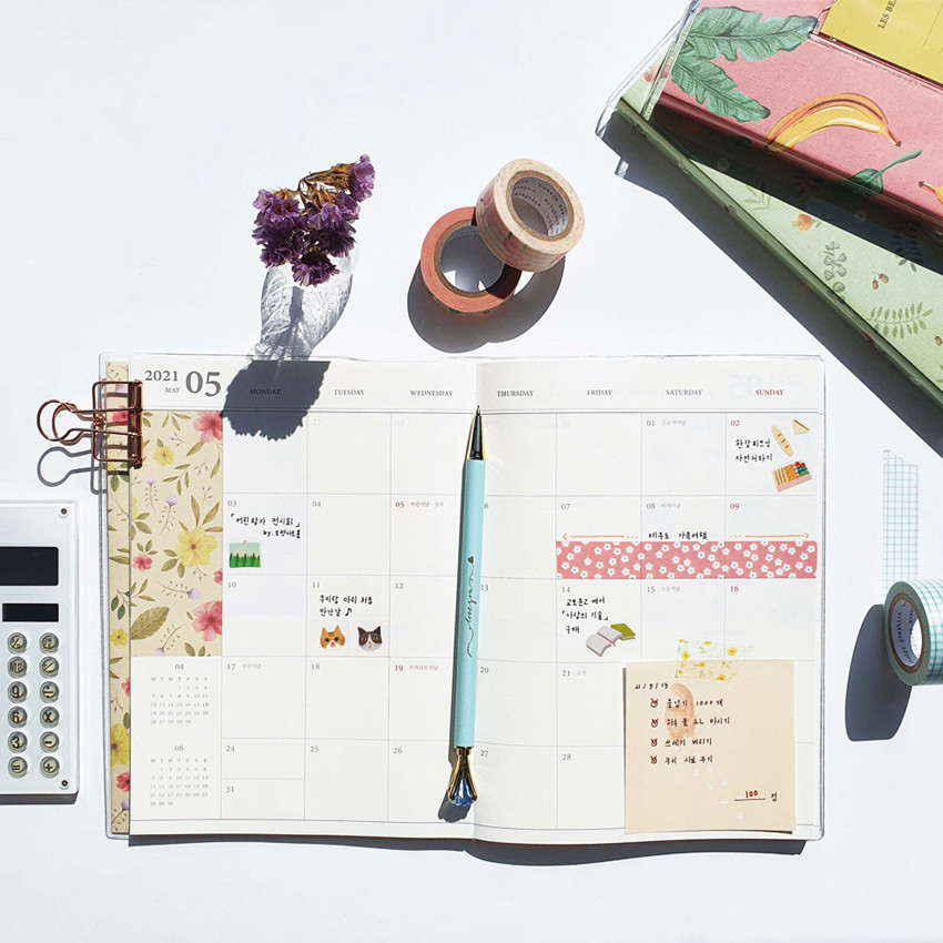 O-check 2021 Les beaux jours dated weekly diary planner