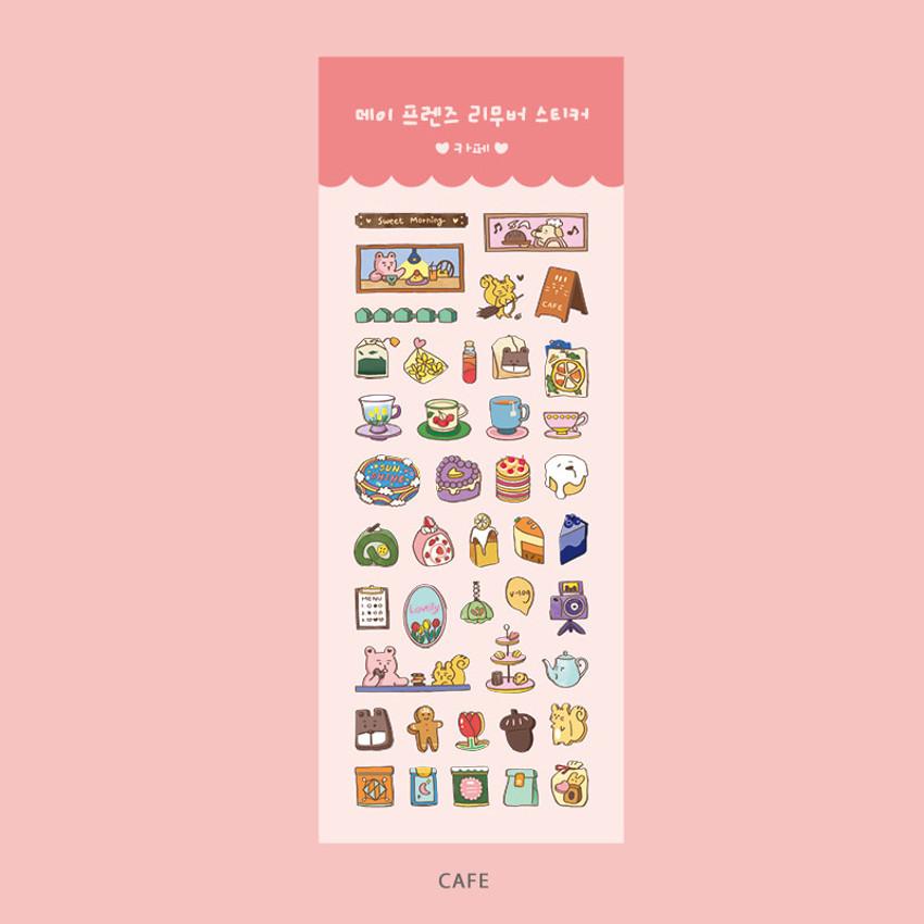 Cafe - Ardium Day friends removable sticker