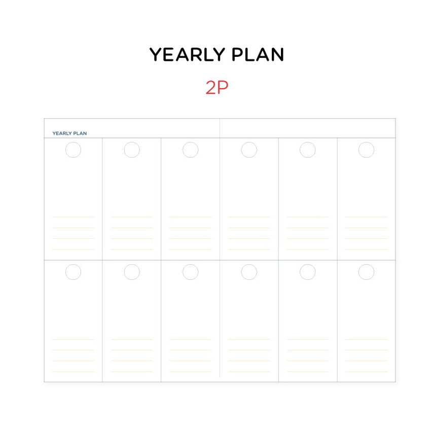 Yearly plan - GMZ Brilliant dateless daily planner scheduler