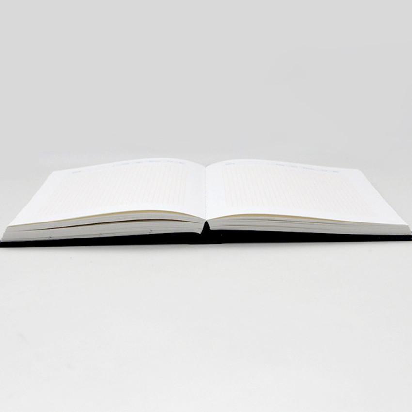 Opens flat - GMZ Brilliant dateless daily planner scheduler