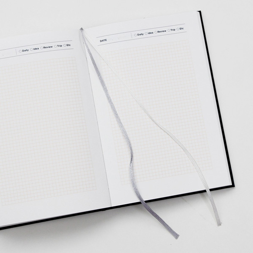 Two ribbon bookmark - GMZ Brilliant dateless daily planner scheduler