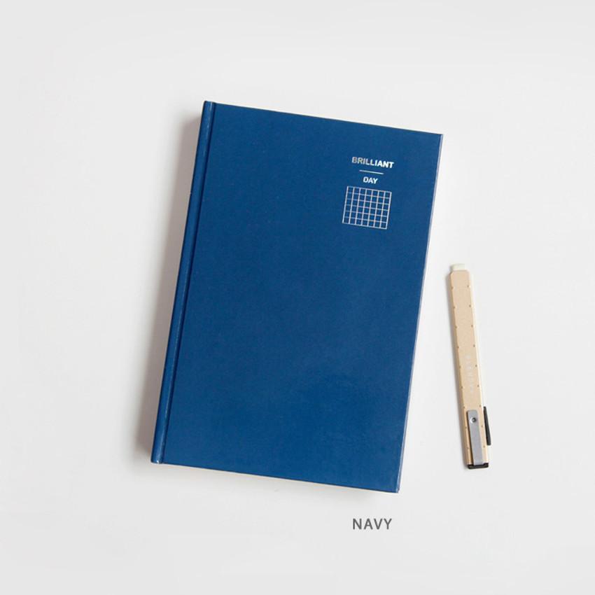 Navy - GMZ Brilliant dateless daily planner scheduler