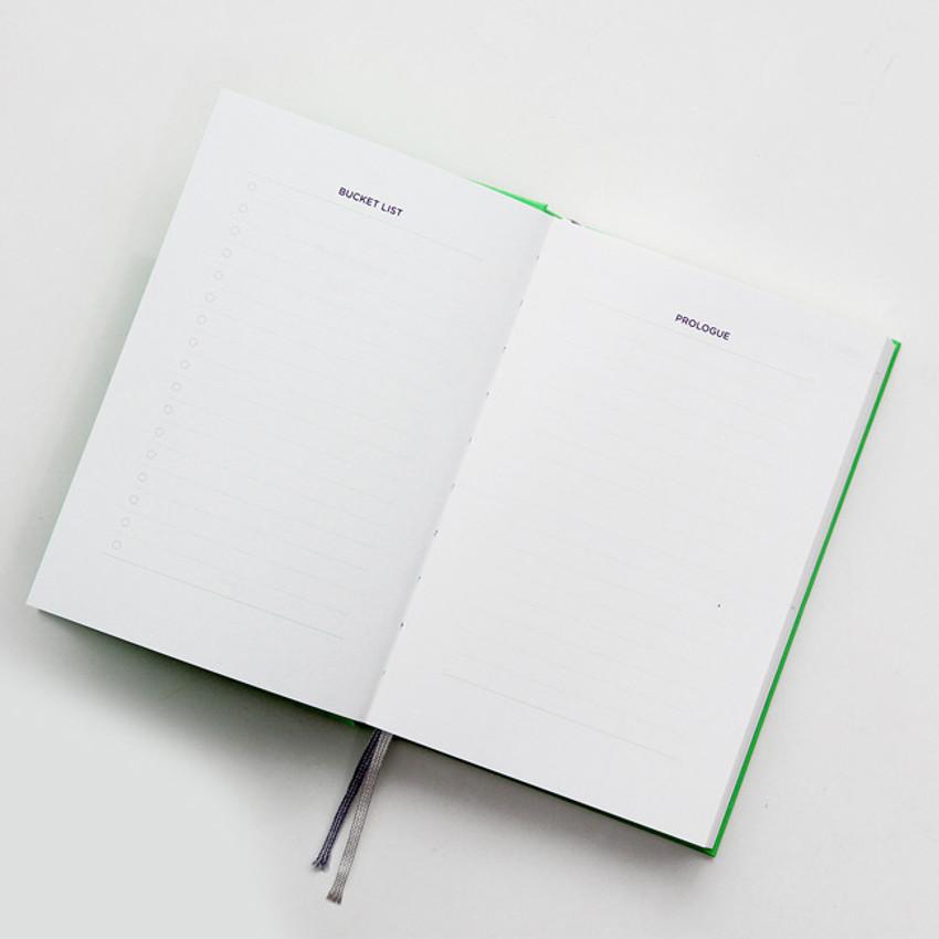 Bucket list & Prologue - GMZ Brilliant dateless weekly planner scheduler