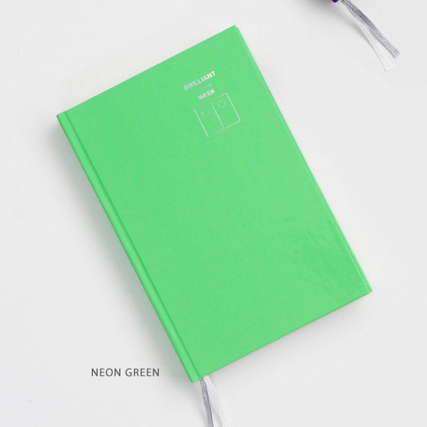 Neon Green - GMZ Brilliant dateless weekly planner scheduler