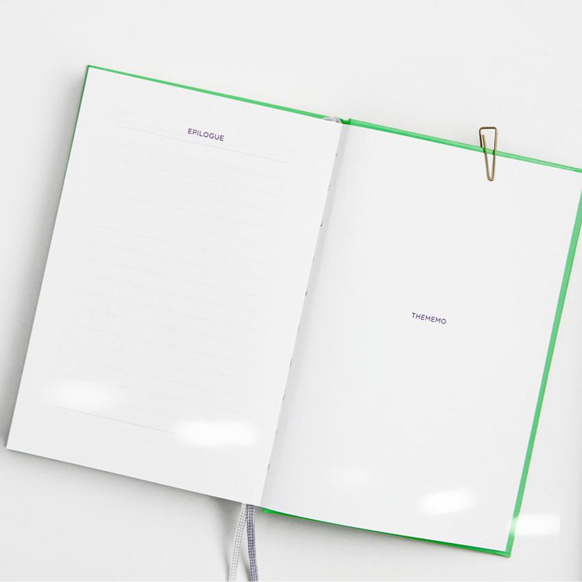 Epilogue & Personal data - GMZ Brilliant dateless weekly planner scheduler