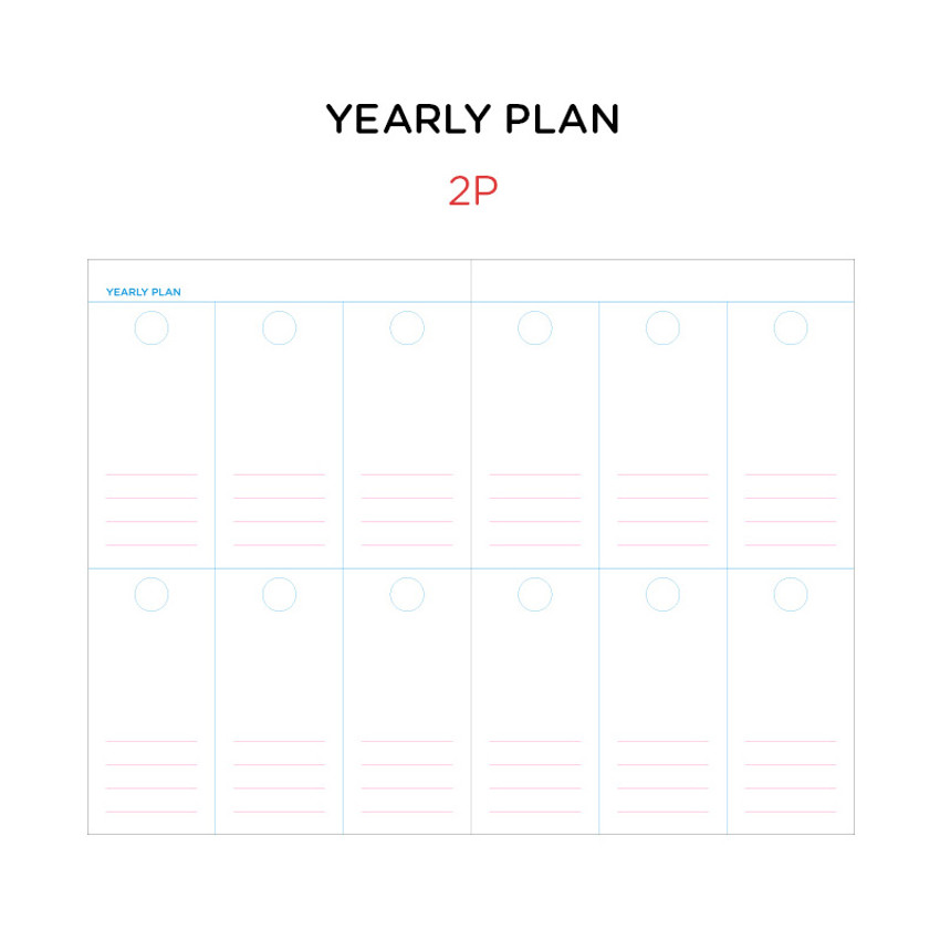 Yearly plan - GMZ Brilliant dateless monthly planner scheduler