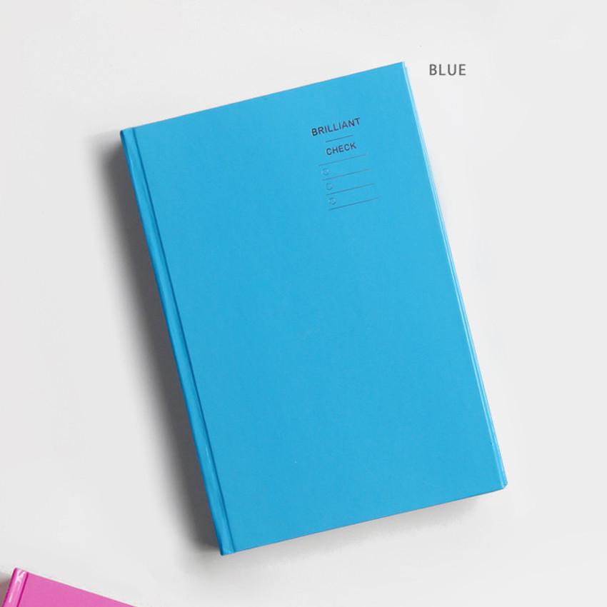 Blue - GMZ Brilliant dateless monthly planner scheduler