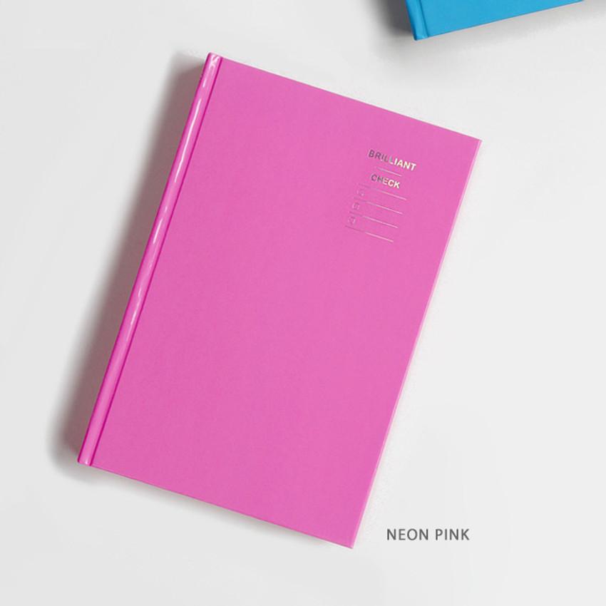 Neon Pink - GMZ Brilliant dateless monthly planner scheduler