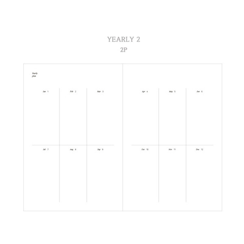 Yearly plan 2 - Dash And Dot 2021 Moon small dated weekly diary planner